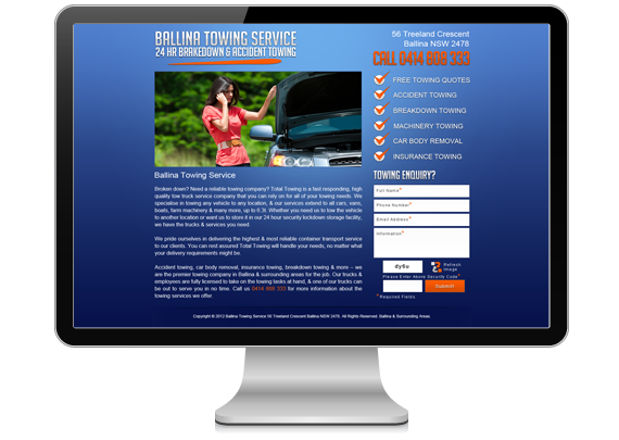 ballina website designer catchy pages