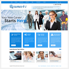 resumes4u website design project